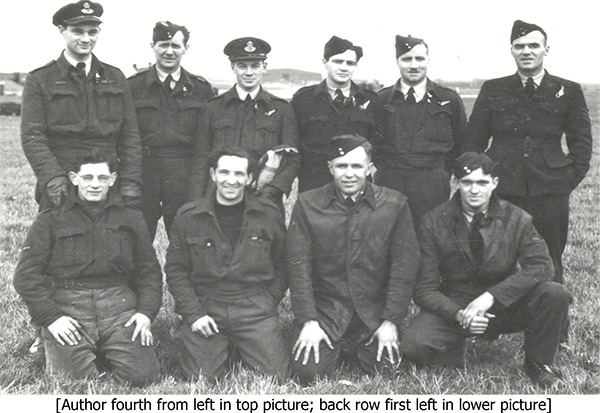 Arthur John Jack Ball with fellow crew members