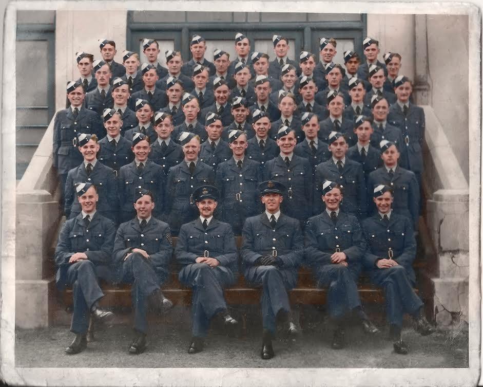 Colourised group photo