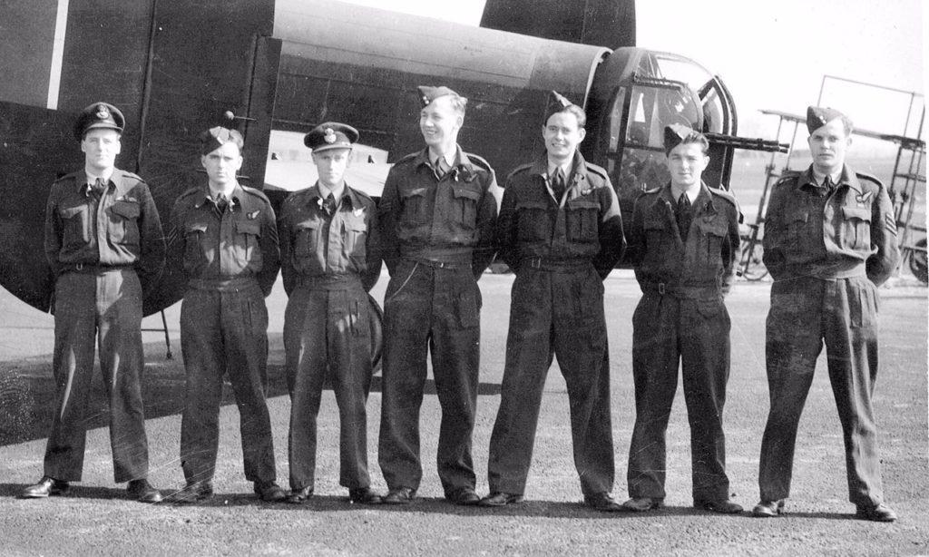 Crew of R Roger James. Douglas Hudson 3rd from left