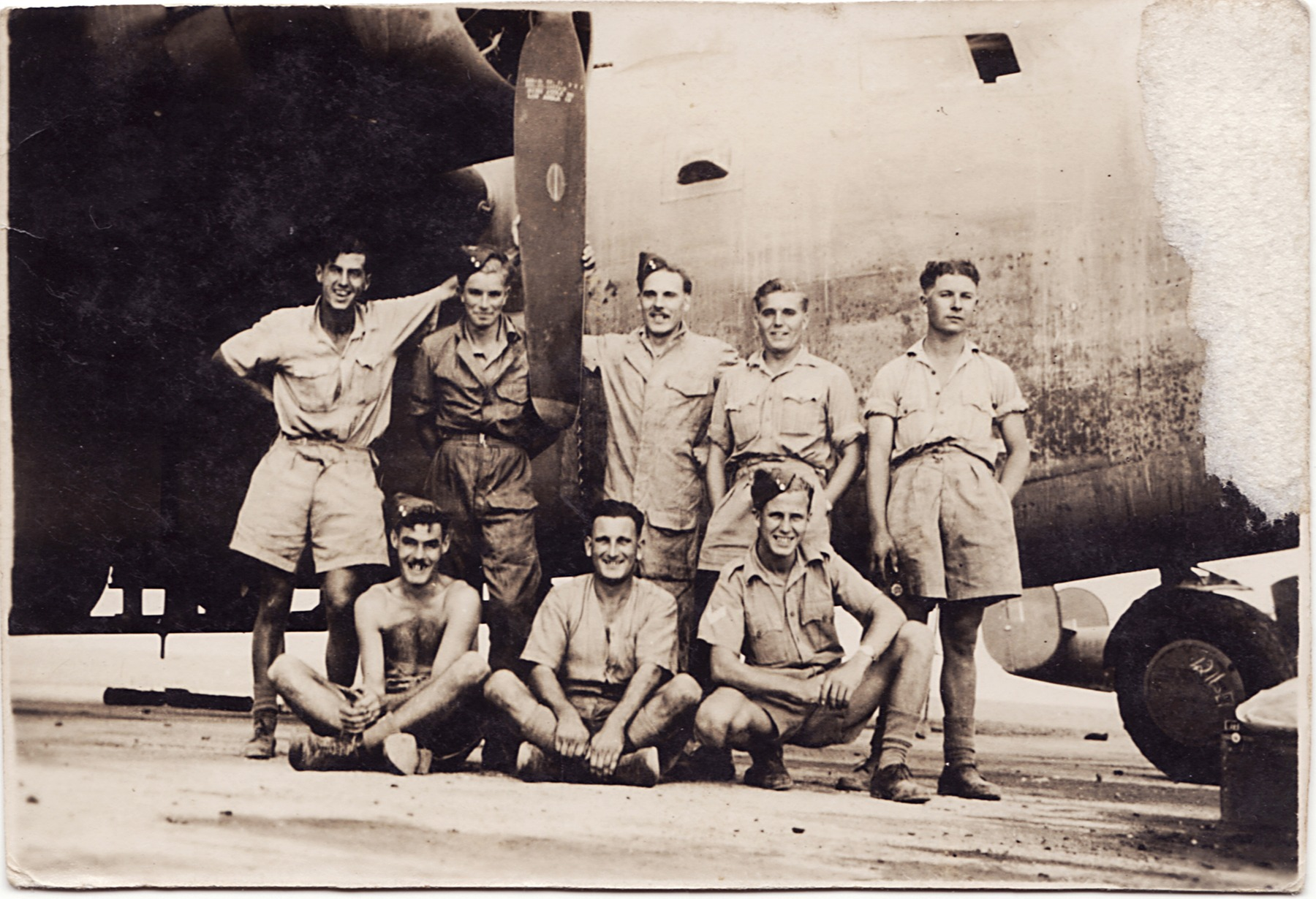 Ground crew with Liberator Bomber