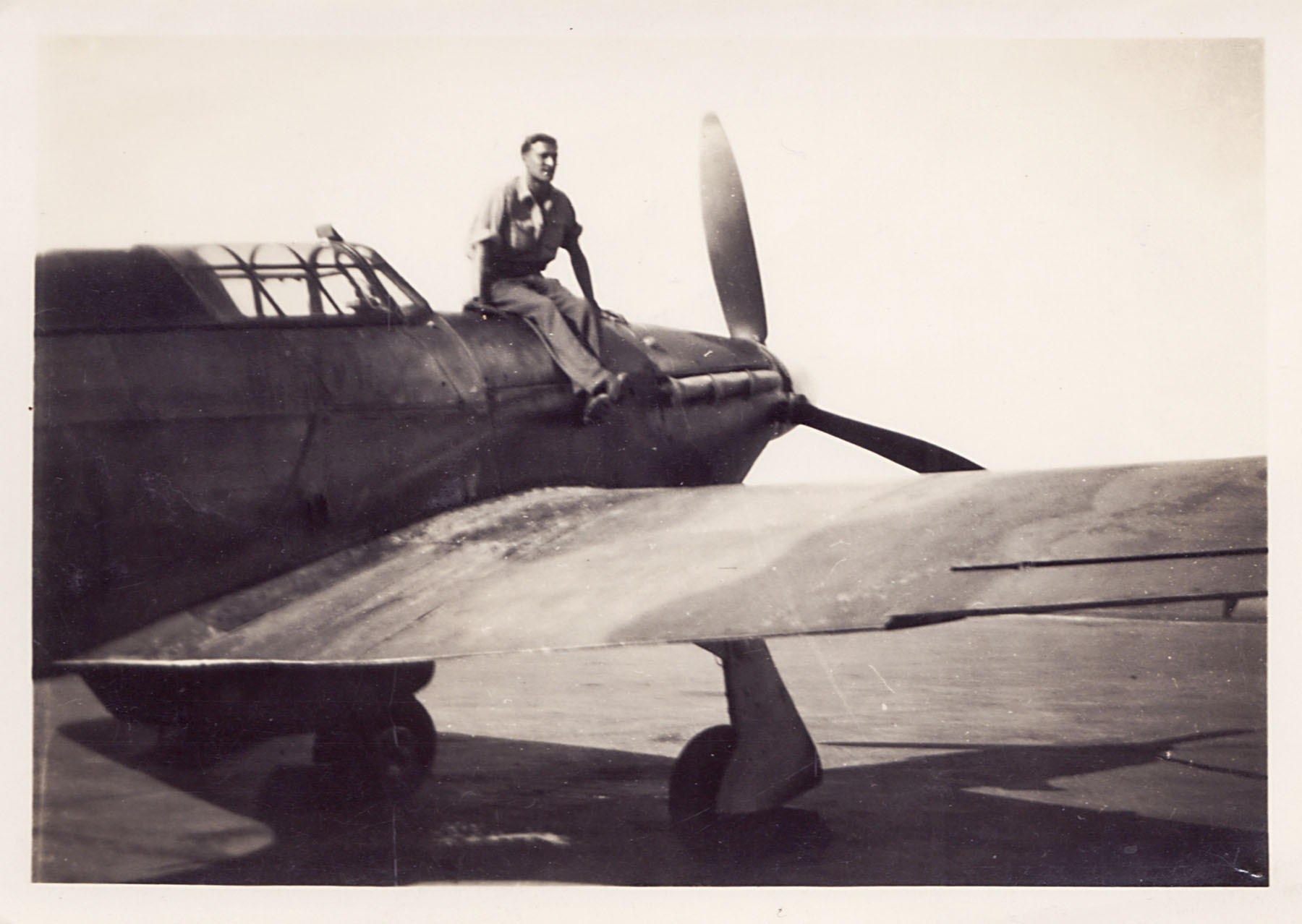 Fred Perkins on a Hurricane