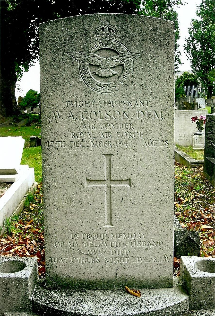 William Alfred Colsons Headstone
