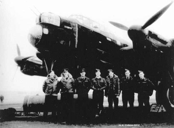 William Colson with Lancaster Crew 9th Squadron