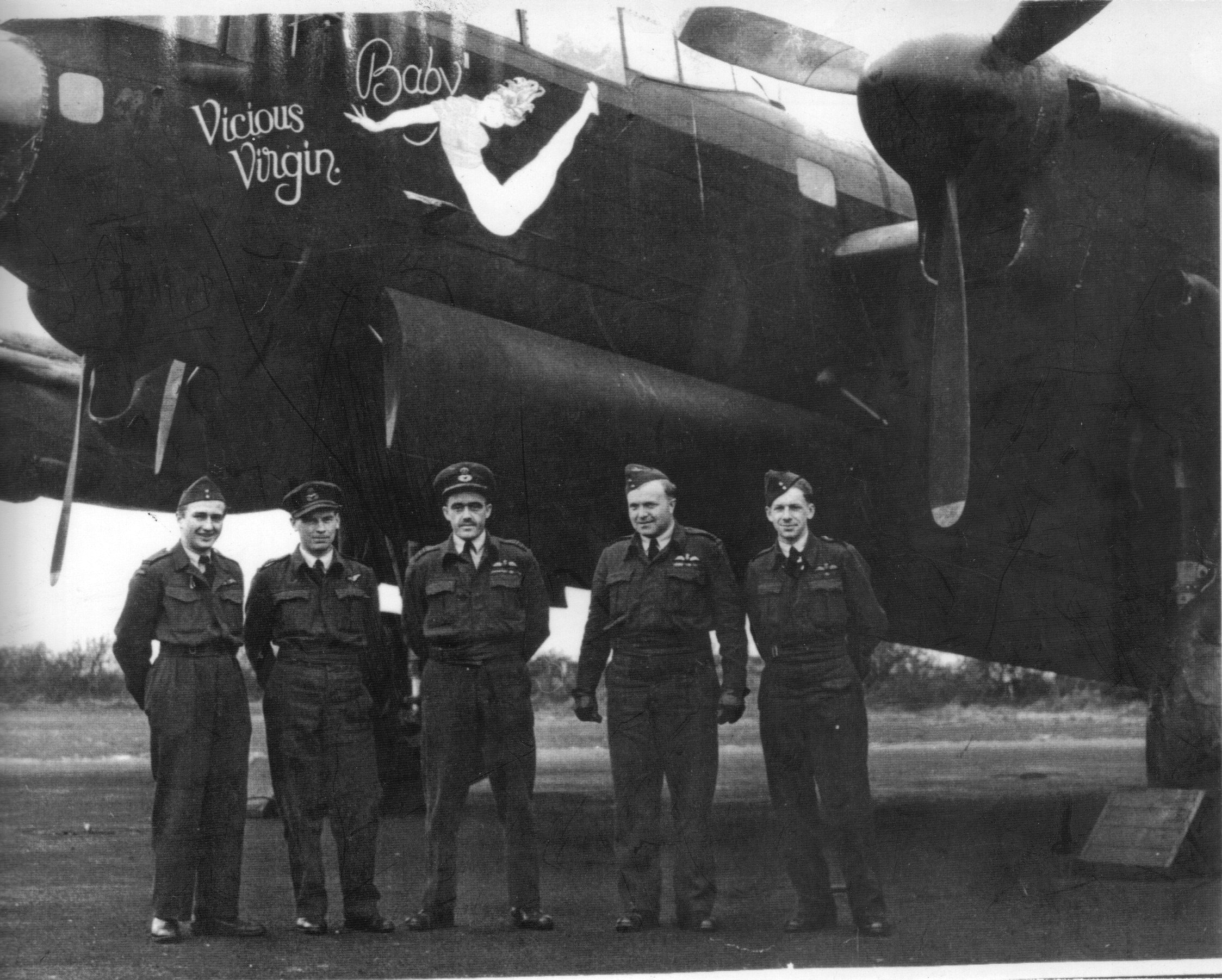Crew in front of Bomber