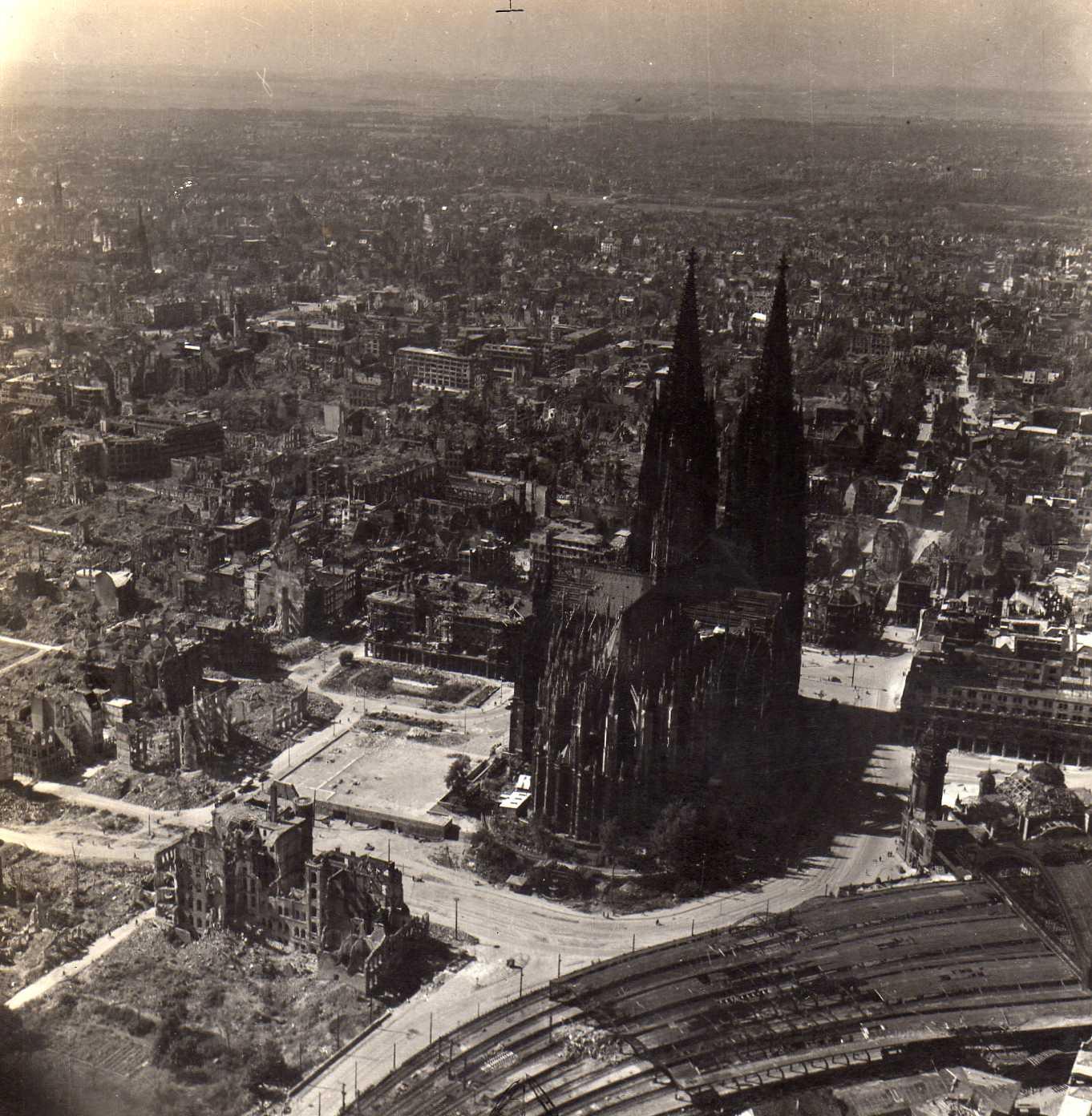Bomb damage in Cologne