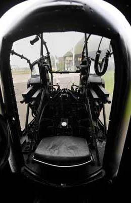 Inside of a Lancaster tail gunner